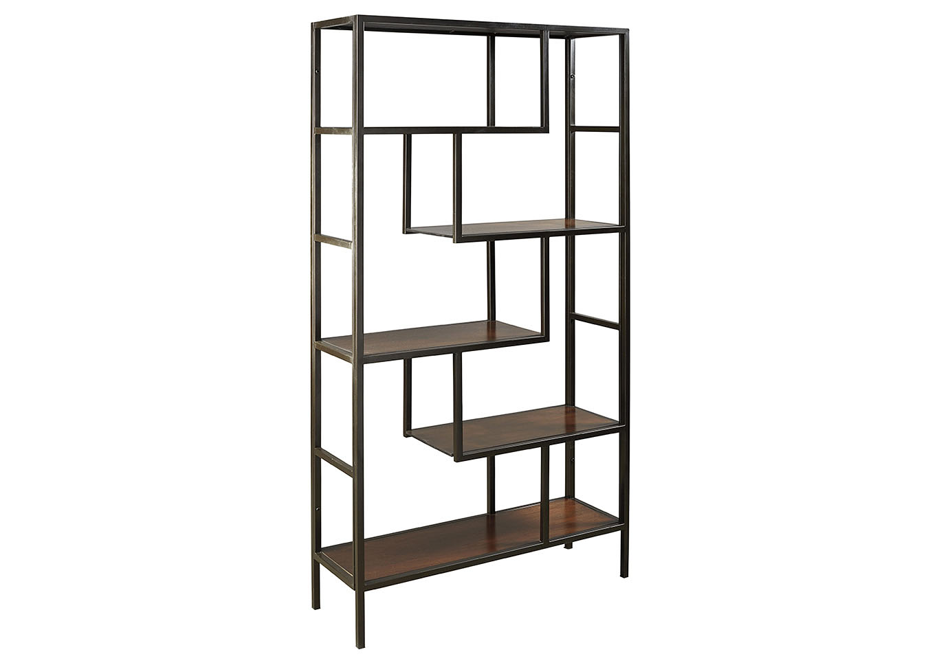 Frankwell Black & Brown Bookcase,Signature Design By Ashley