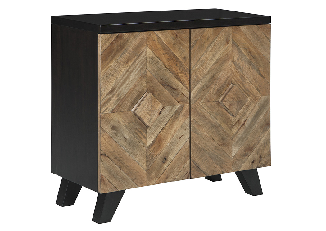 Robin Ridge Two Tone Brown Door Accent Cabinet,Signature Design By Ashley