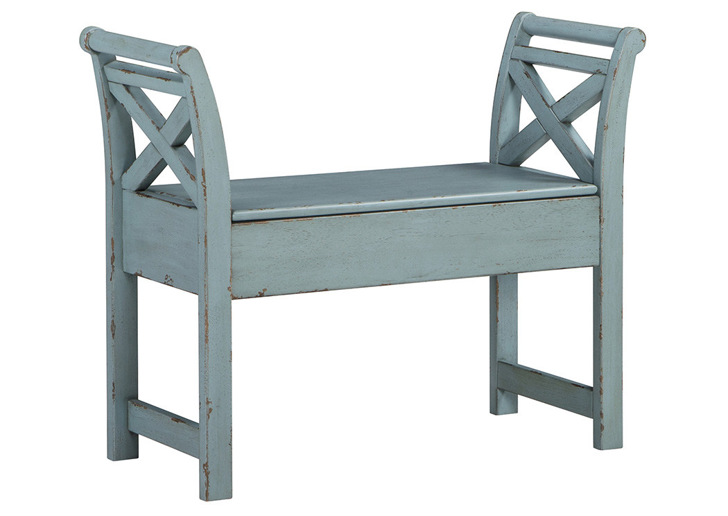Heron Ridge Blue Accent Bench,Signature Design By Ashley