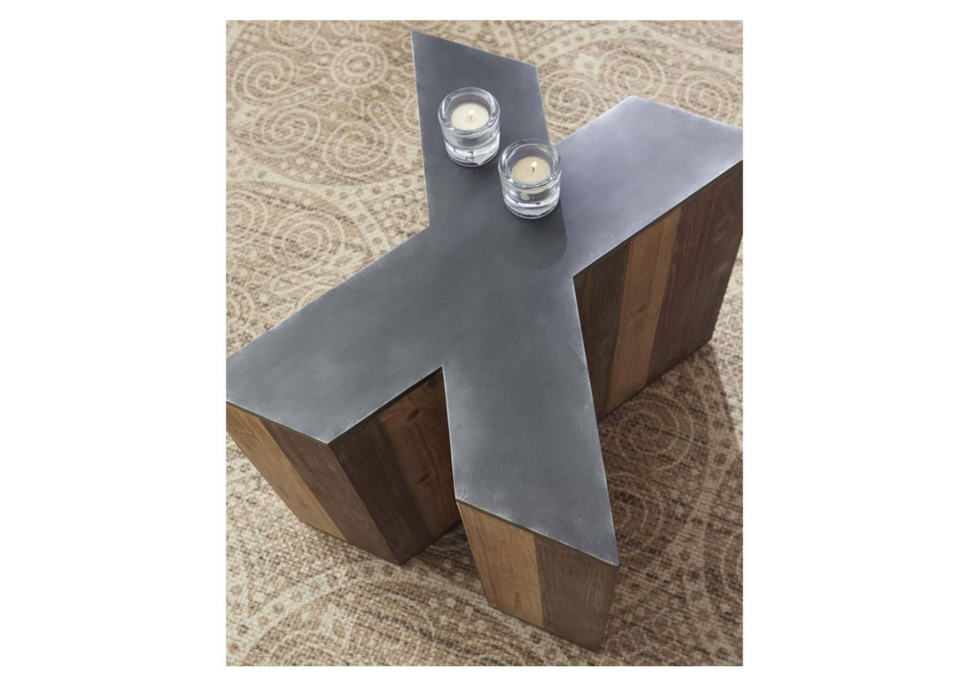 Highmender Brown/Black Accent Table,Signature Design By Ashley