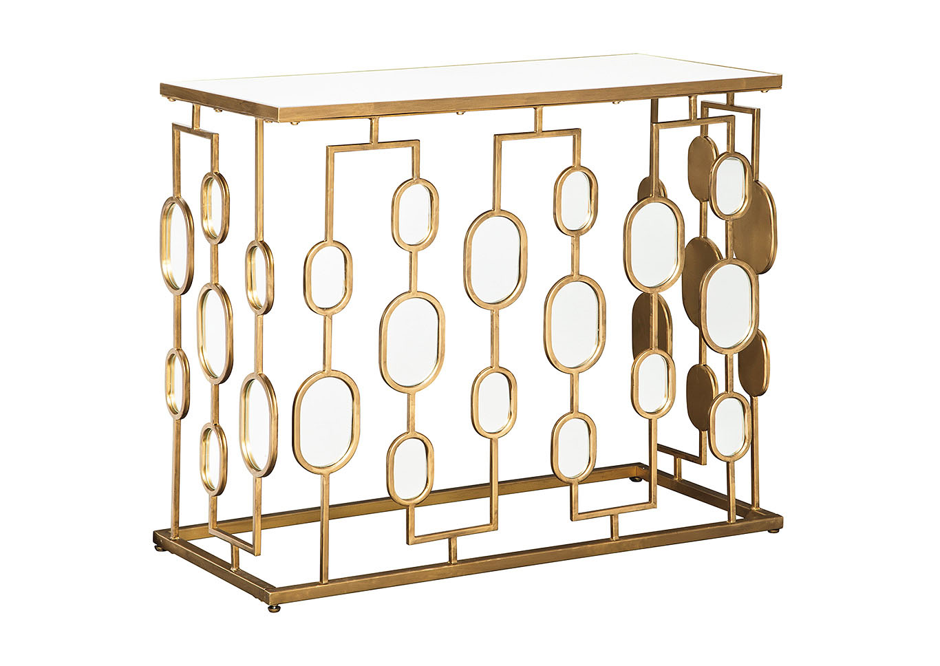 Majaci Gold Finish Console Table,Signature Design By Ashley