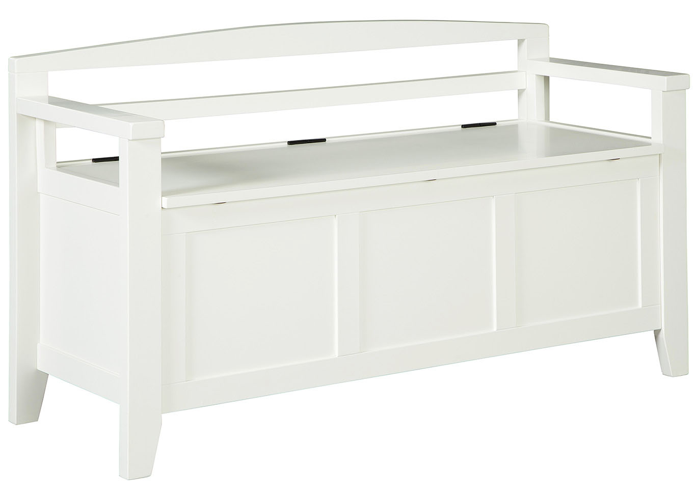 Charvanna White Storage Bench,Signature Design By Ashley