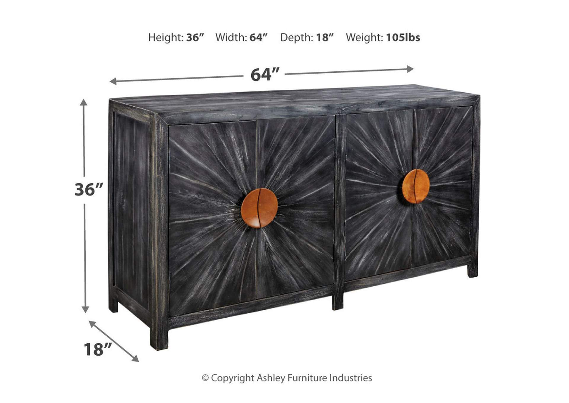 Kademore Black Accent Cabinet,Signature Design By Ashley
