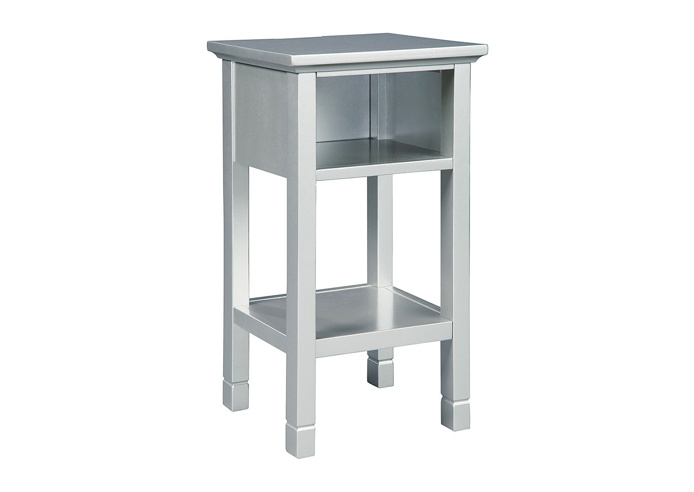 Marnville Silver Finish Accent Table,Signature Design By Ashley