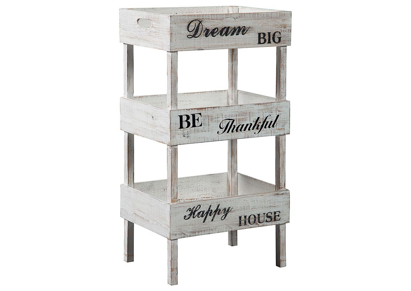 Yulton Antique White Storage Shelf,Signature Design By Ashley