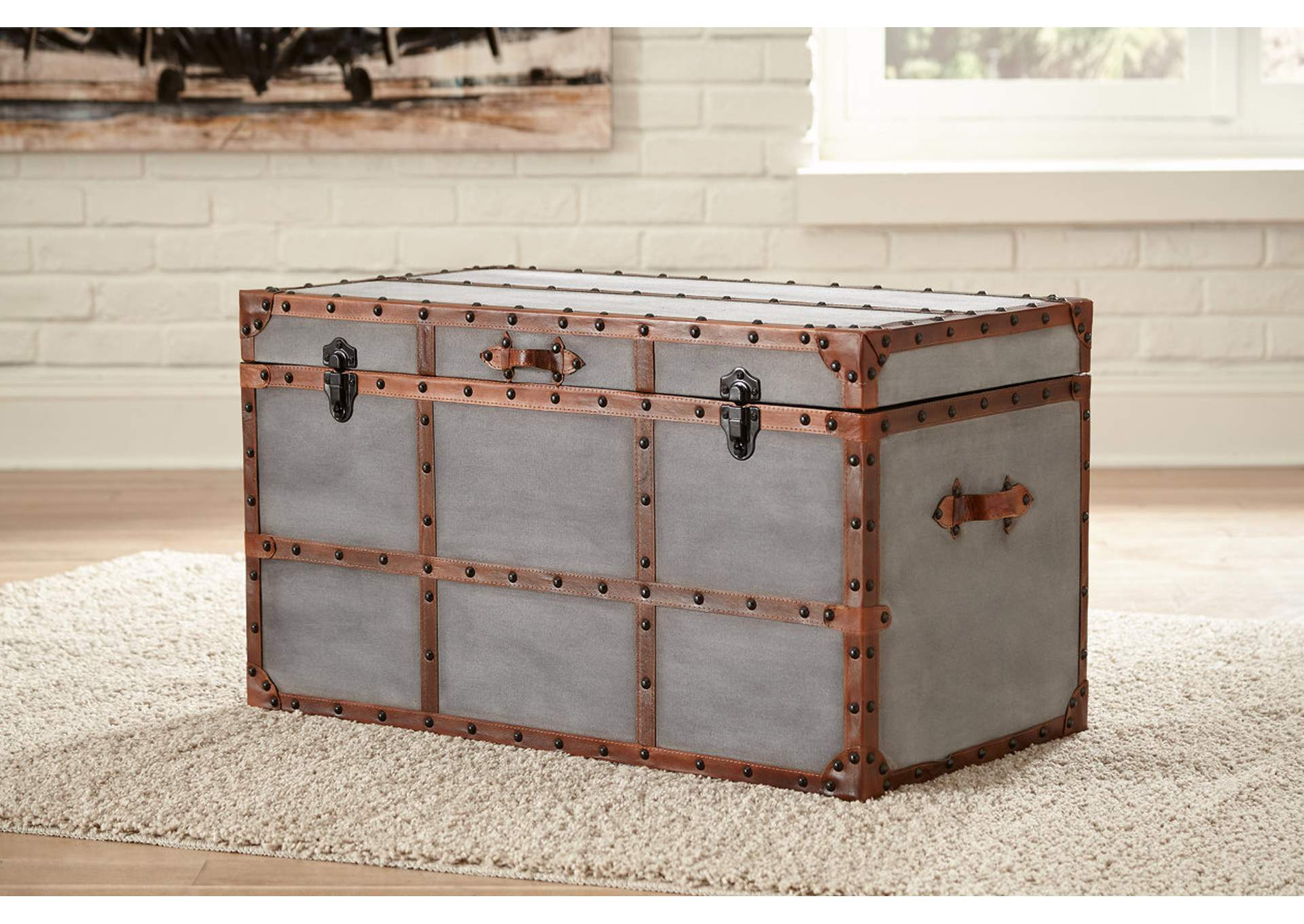 Amsel Gray Storage Trunk,Signature Design By Ashley