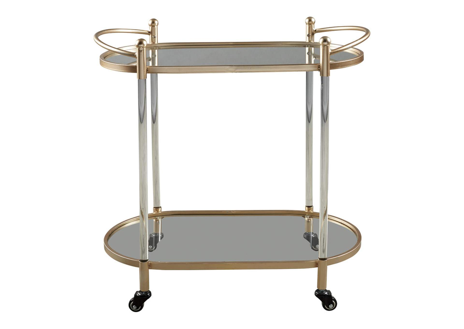 Cordland Gold Bar Cart,48 Hour Quick Ship