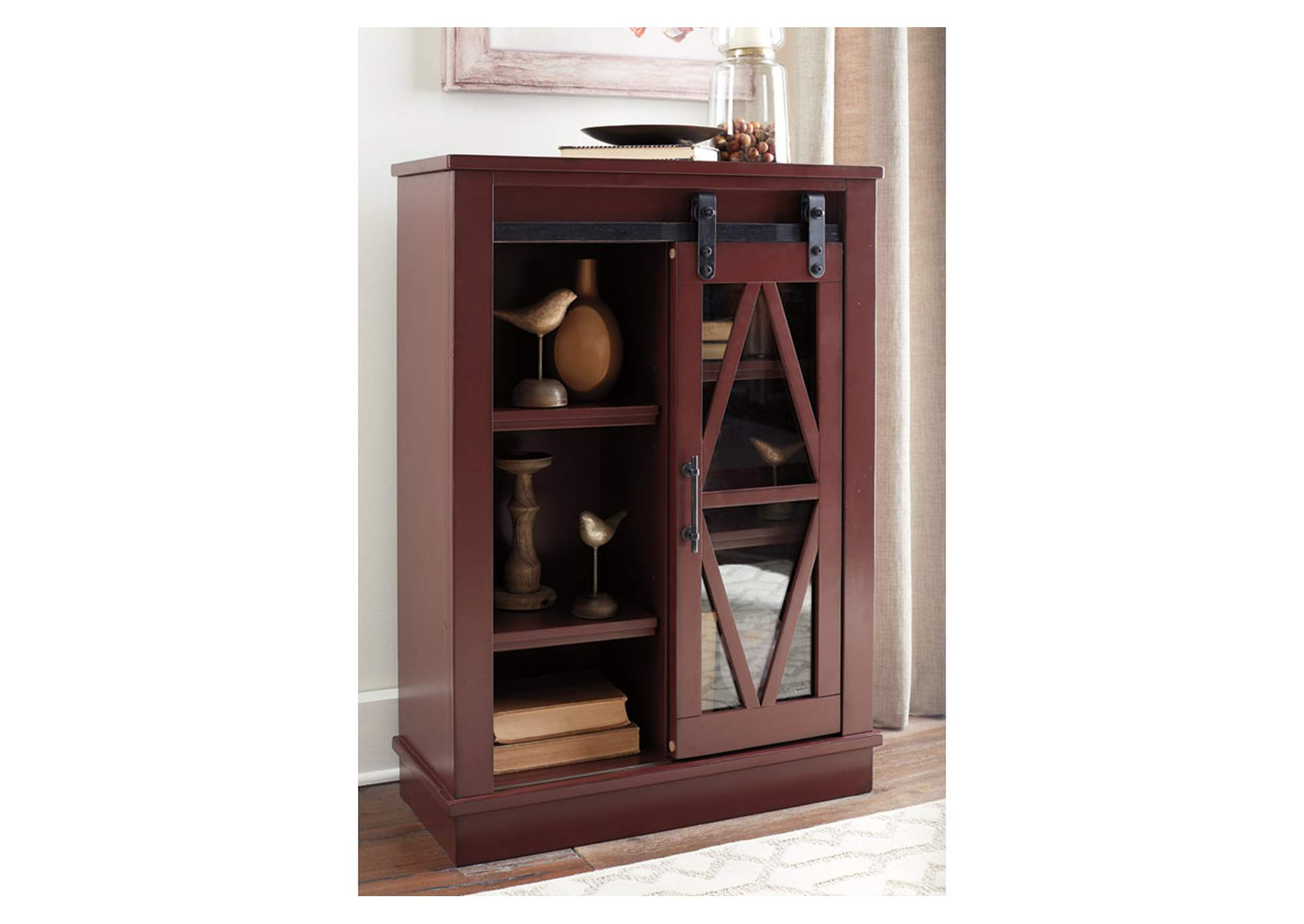 Bronfield Red Accent Cabinet,Signature Design By Ashley
