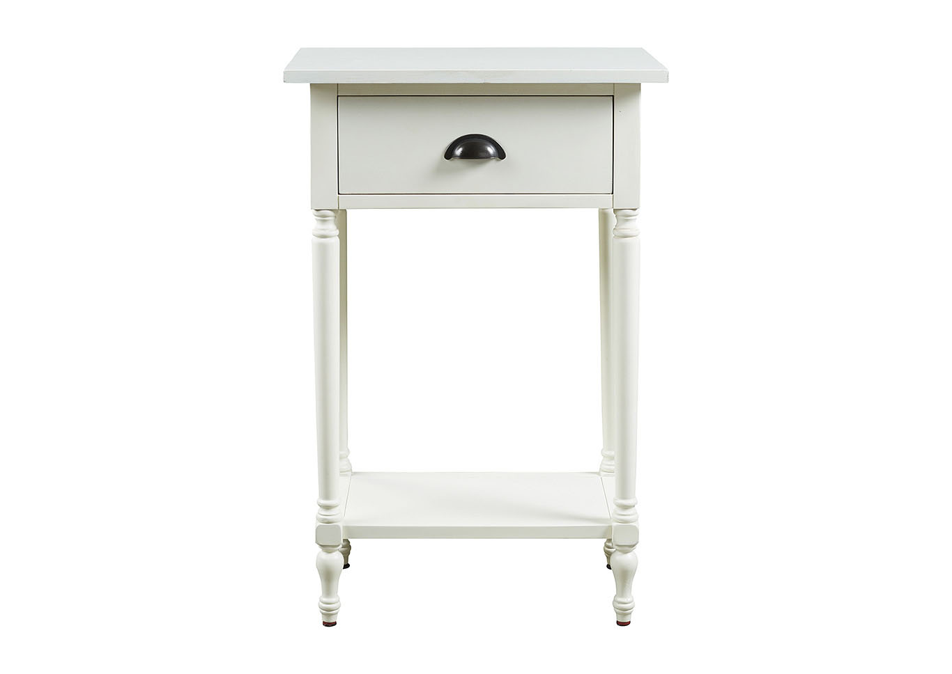 - Ivan Smith Juinville White Accent Table