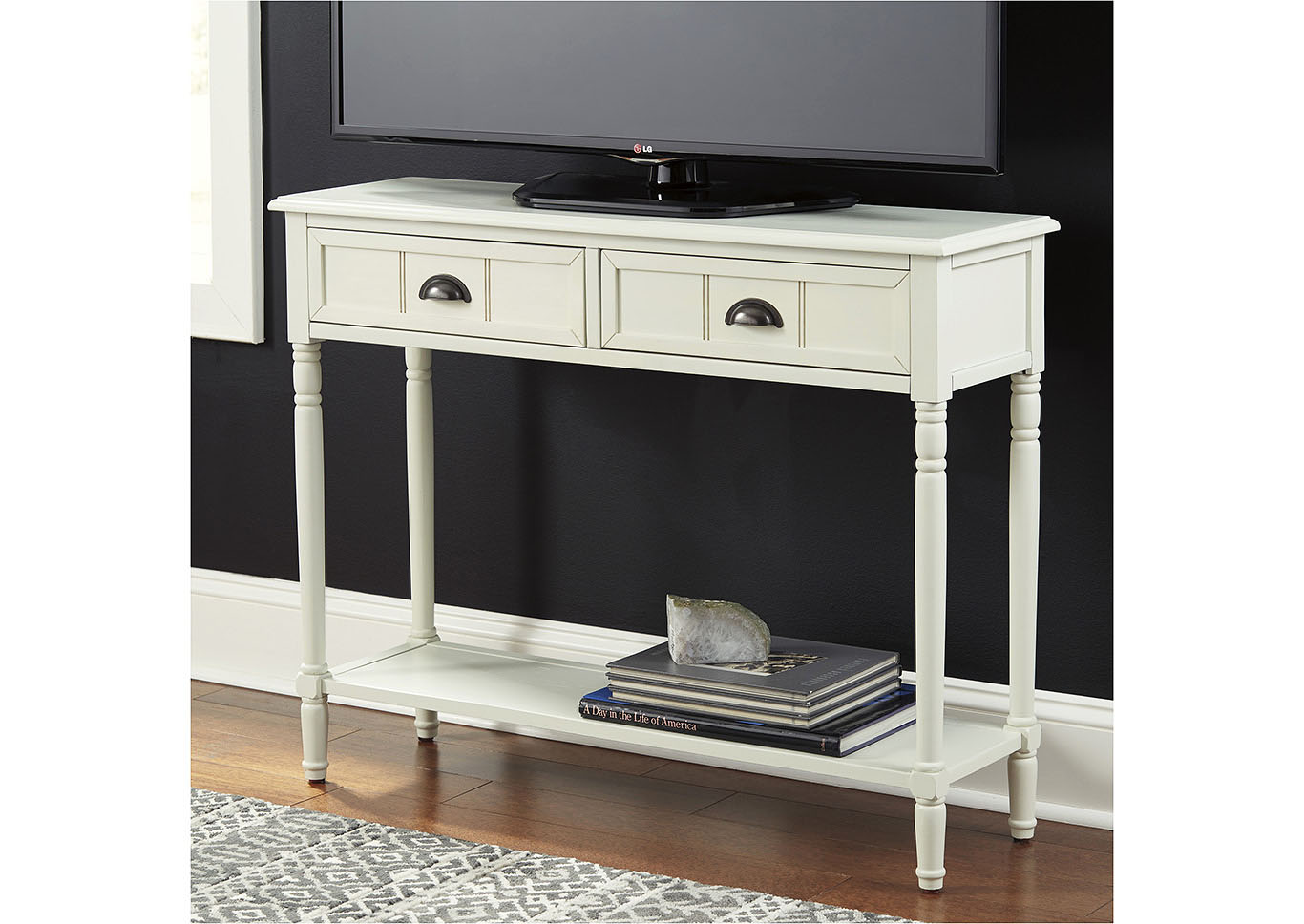 Goverton White Console Sofa Table,Signature Design By Ashley