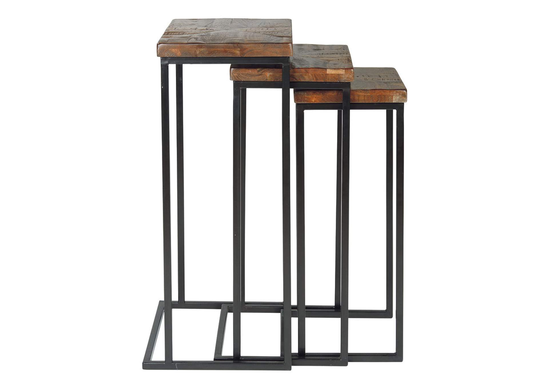 Cainthorne Brown/Black Accent Table (Set of 3),Signature Design By Ashley