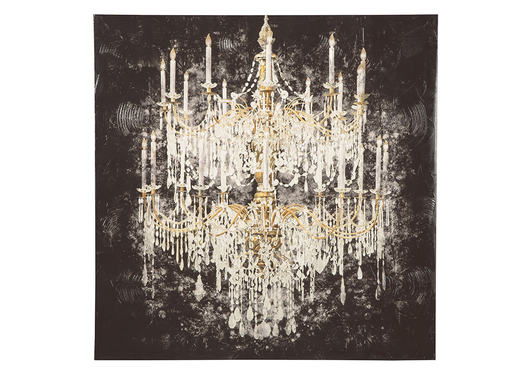 Donda Black/White/Gold Finish Wall Art,Signature Design By Ashley