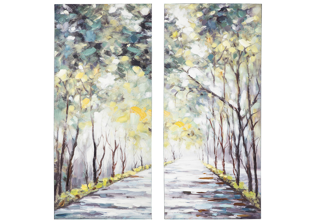 Donagh Green Wall Art Set (Set of 2),Signature Design By Ashley