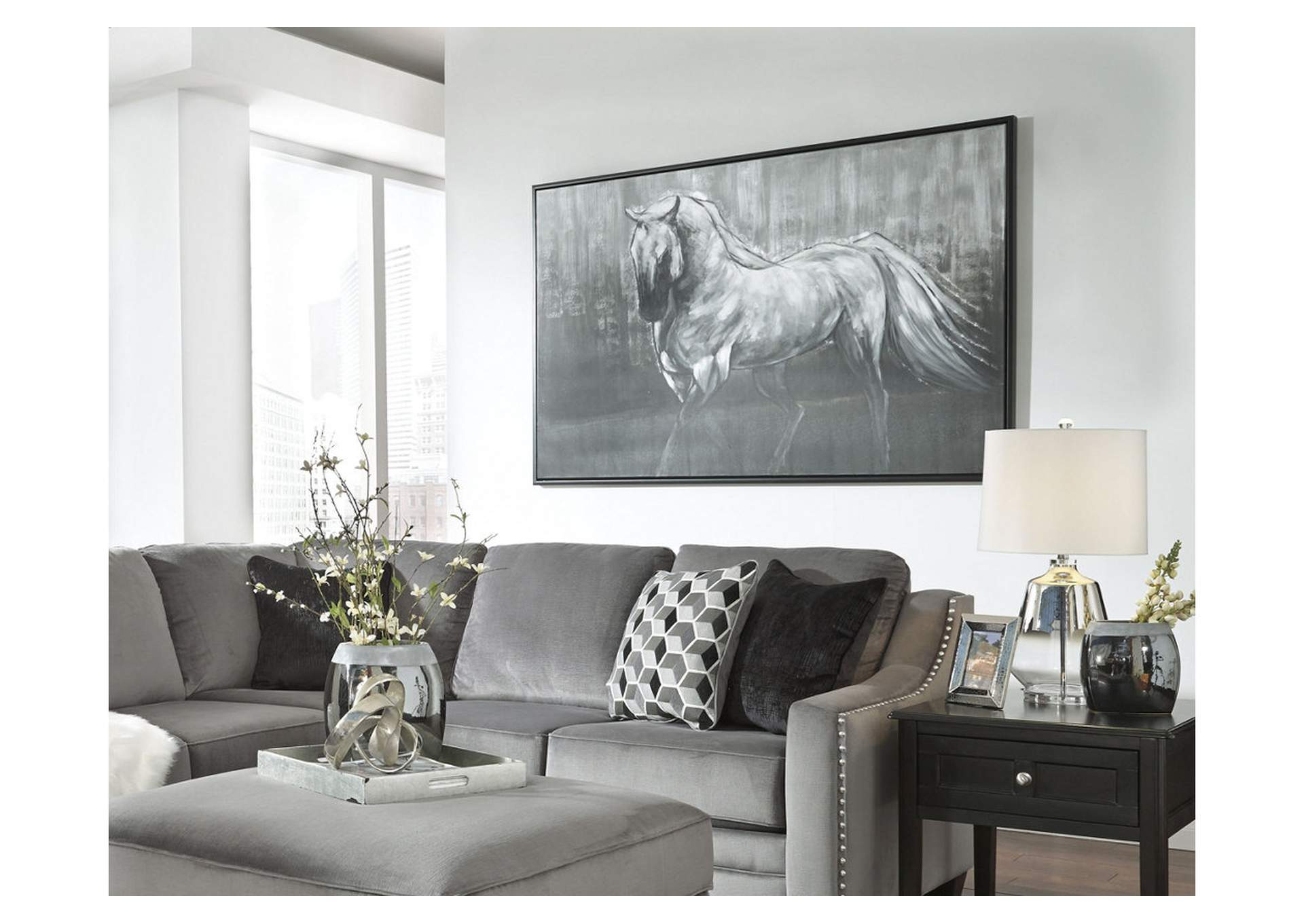 Victor White/Black Wall Art,Signature Design By Ashley