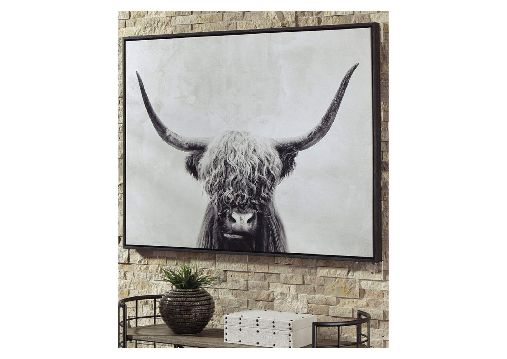 Pancho Black/White Wall Art,Signature Design By Ashley