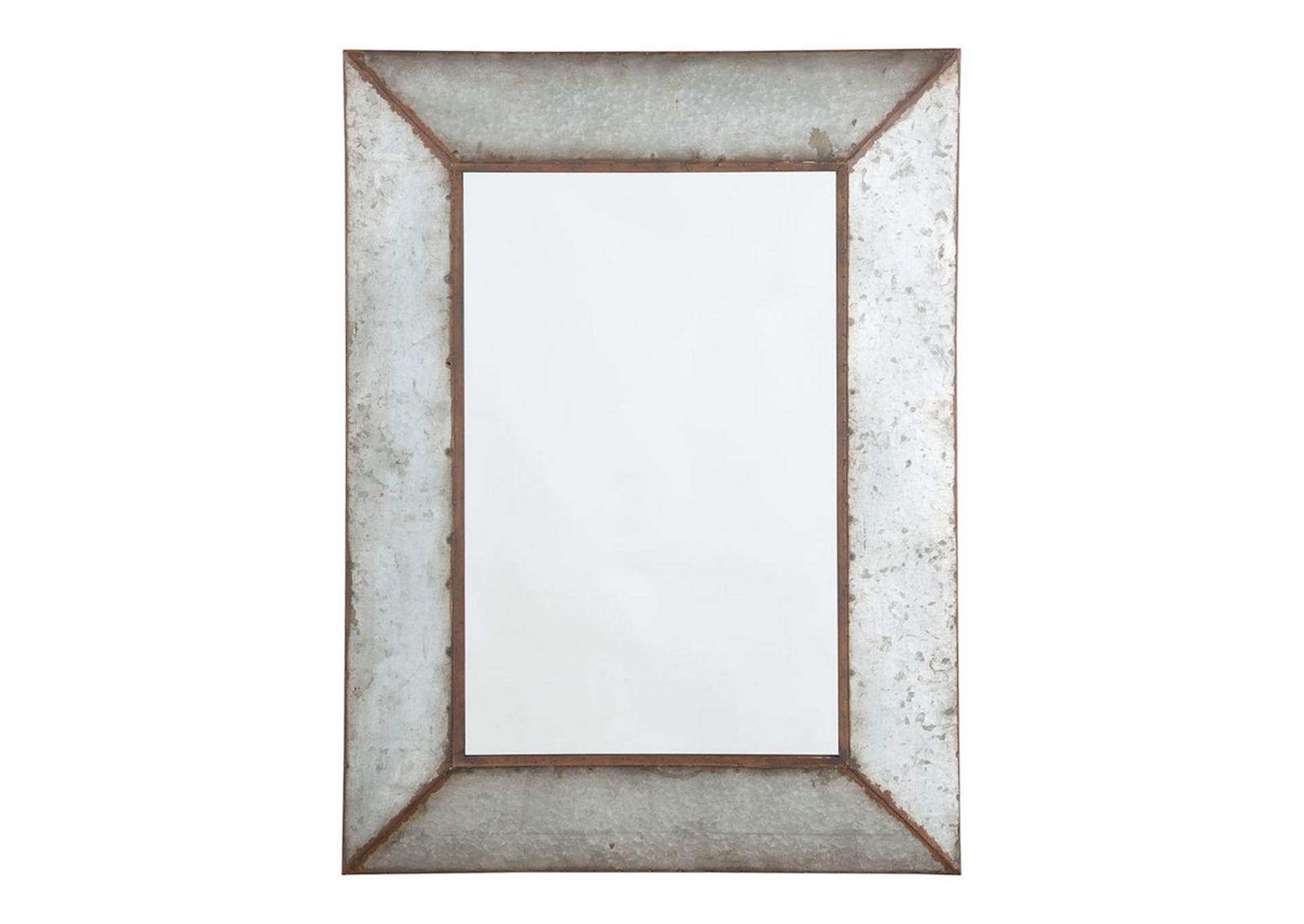 O''Tallay Antique Gray Accent Mirror,Direct To Consumer Express