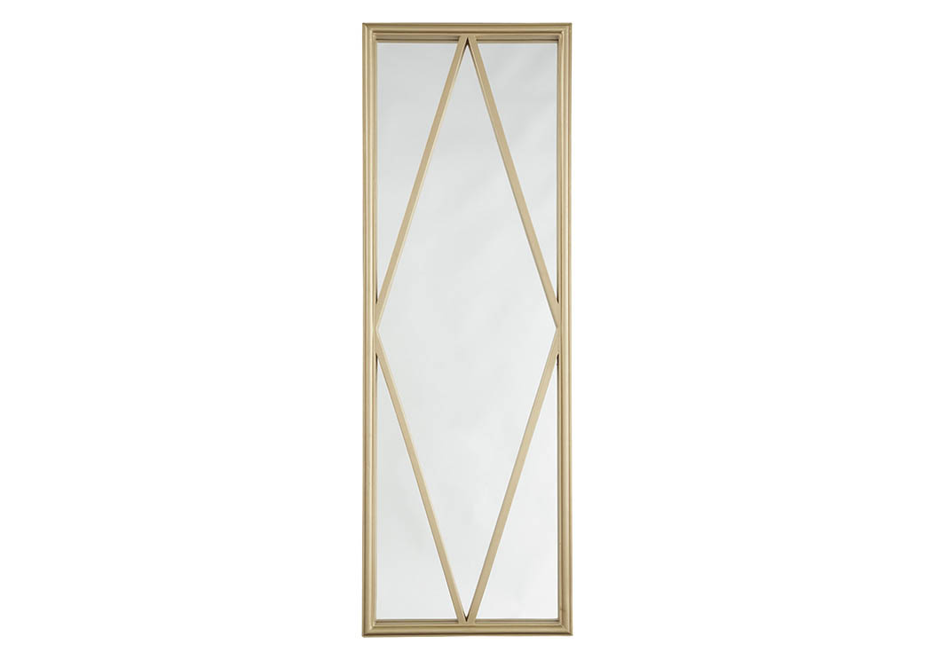 Offa Gold Finish Accent Mirror,Signature Design By Ashley