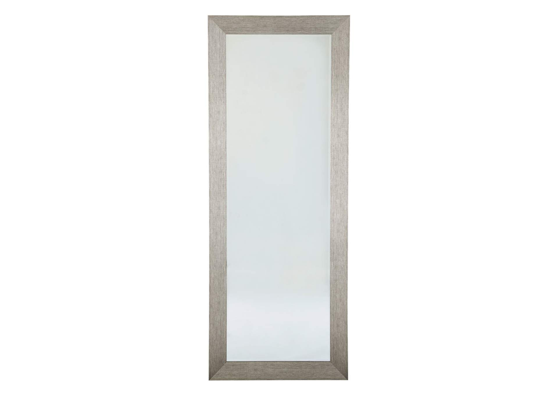 Duka Silver Finish Accent Mirror,Signature Design By Ashley