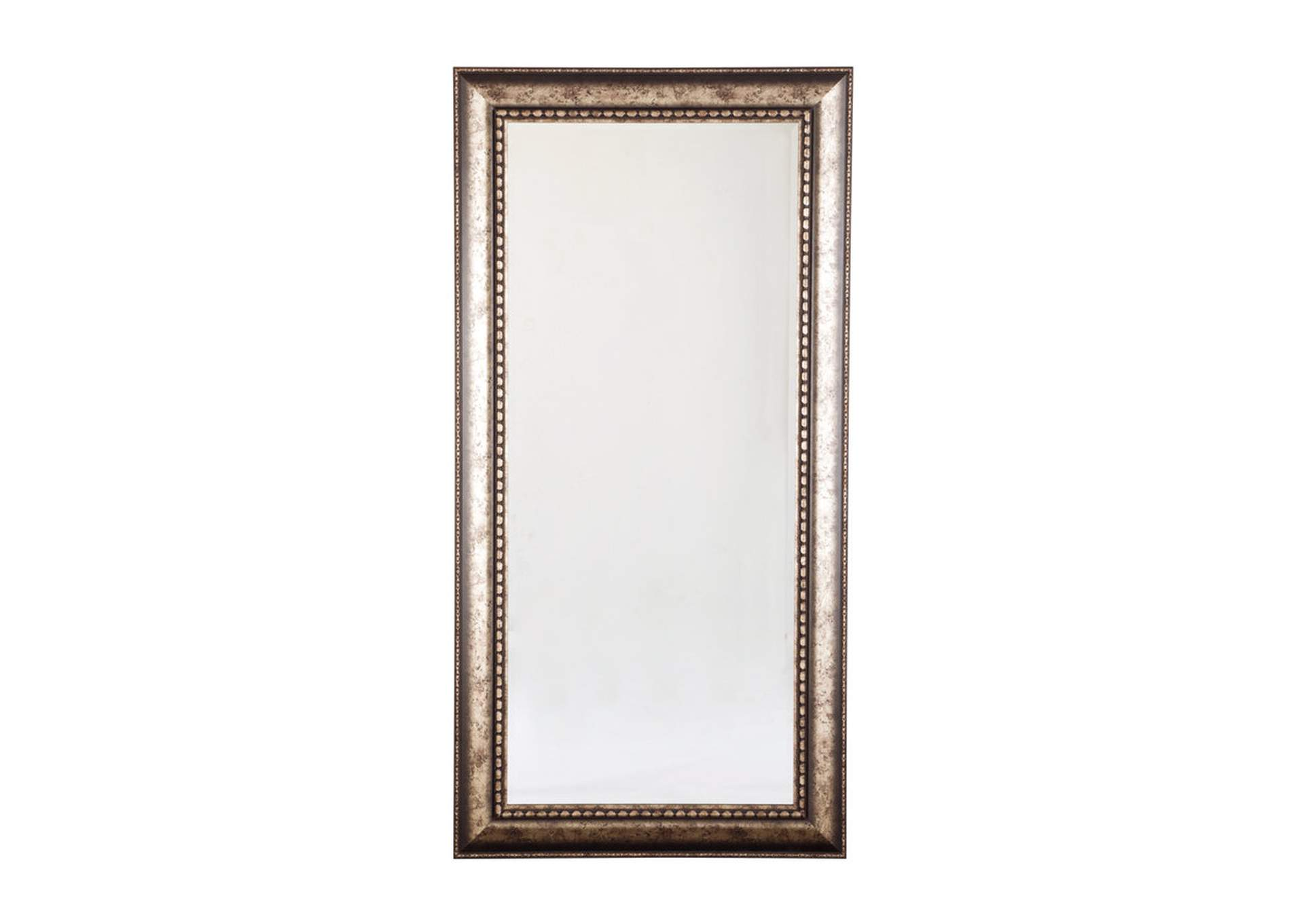 Dulal Antique Silver Finish Accent Mirror,Signature Design By Ashley