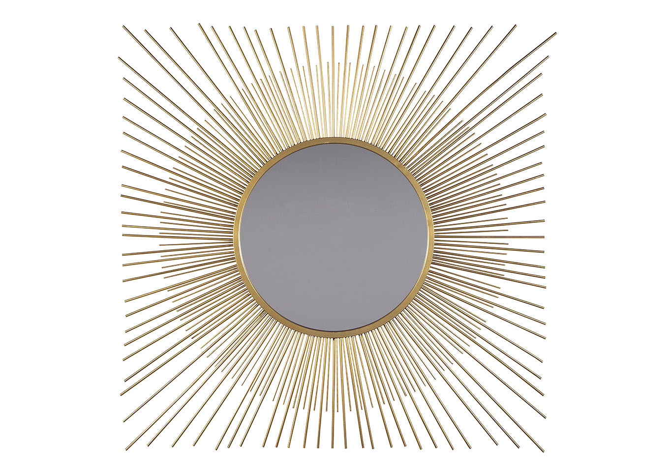 Elspeth Gold Finish Accent Mirror,Signature Design By Ashley