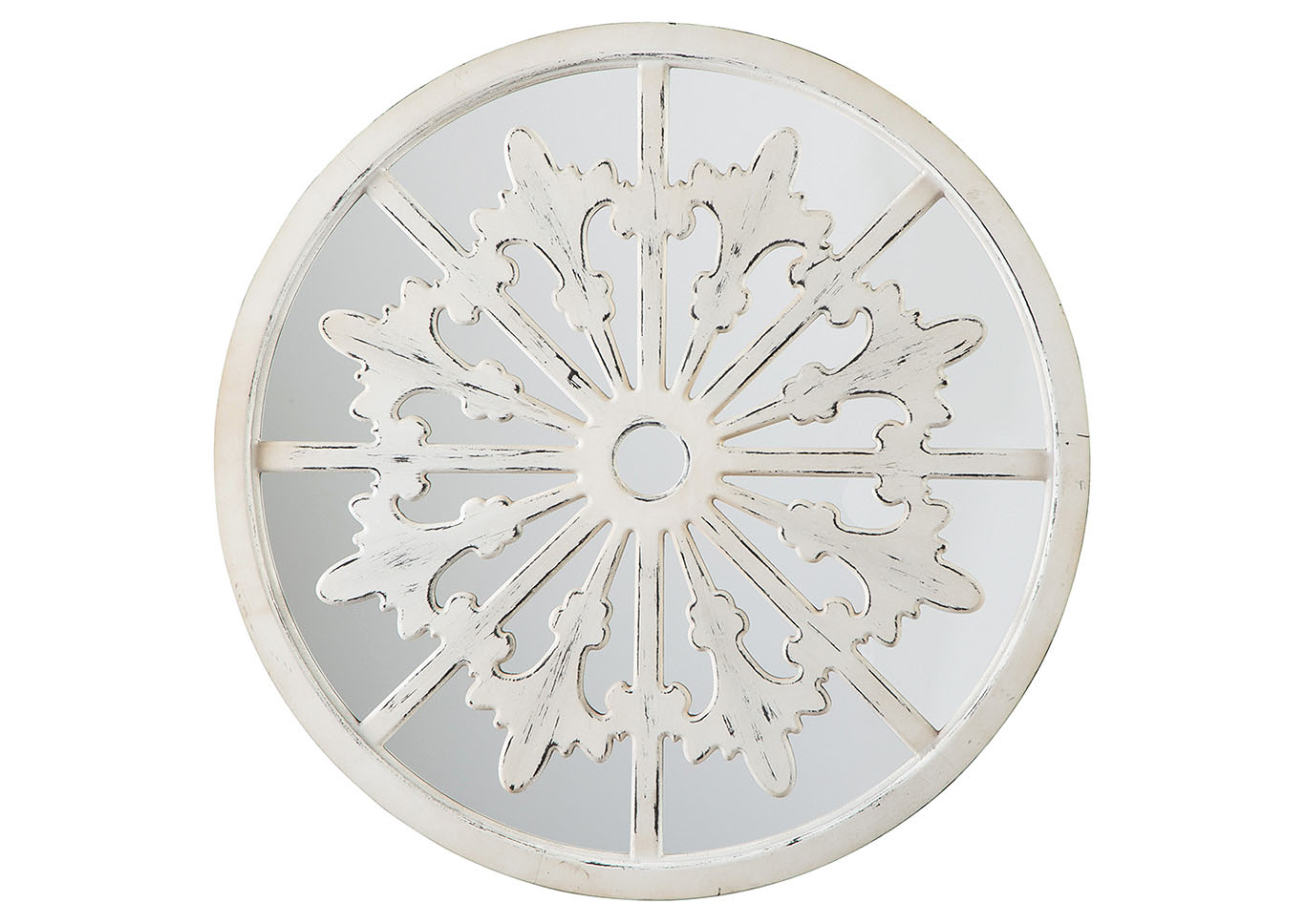Emlen Antique White Accent Mirror,Signature Design By Ashley