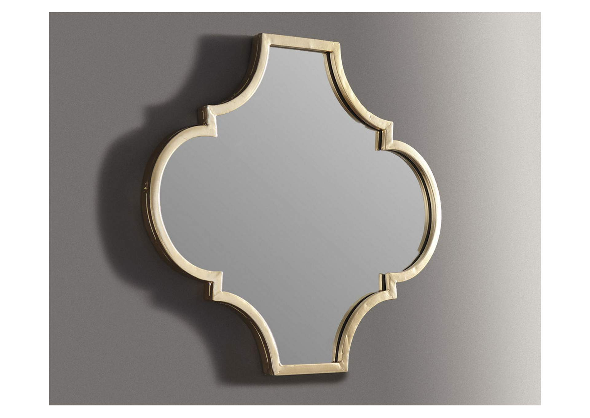 Callie Gold Finish Accent Mirror,Signature Design By Ashley