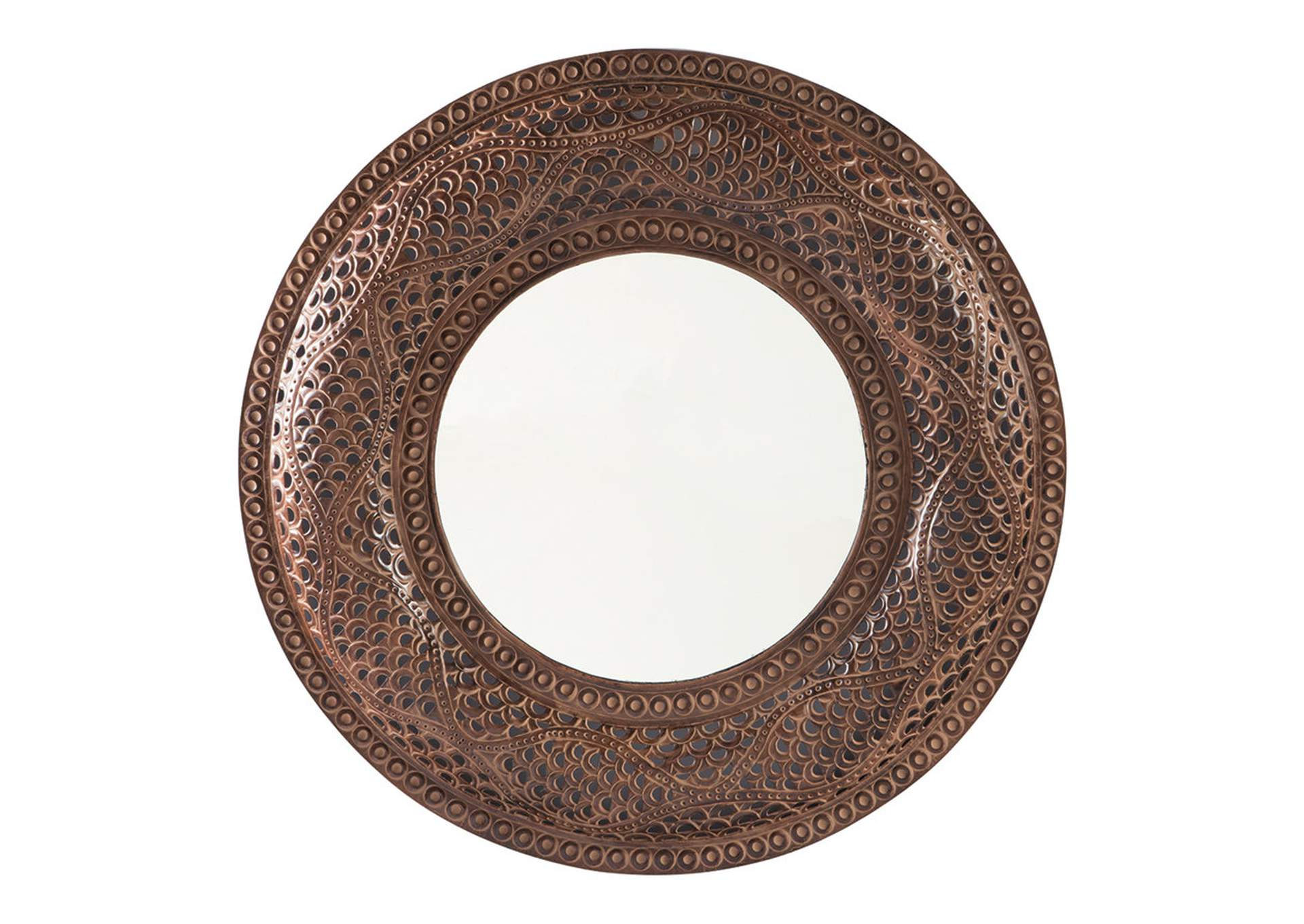 Elikapeka Antique Brown Accent Mirror,Signature Design By Ashley