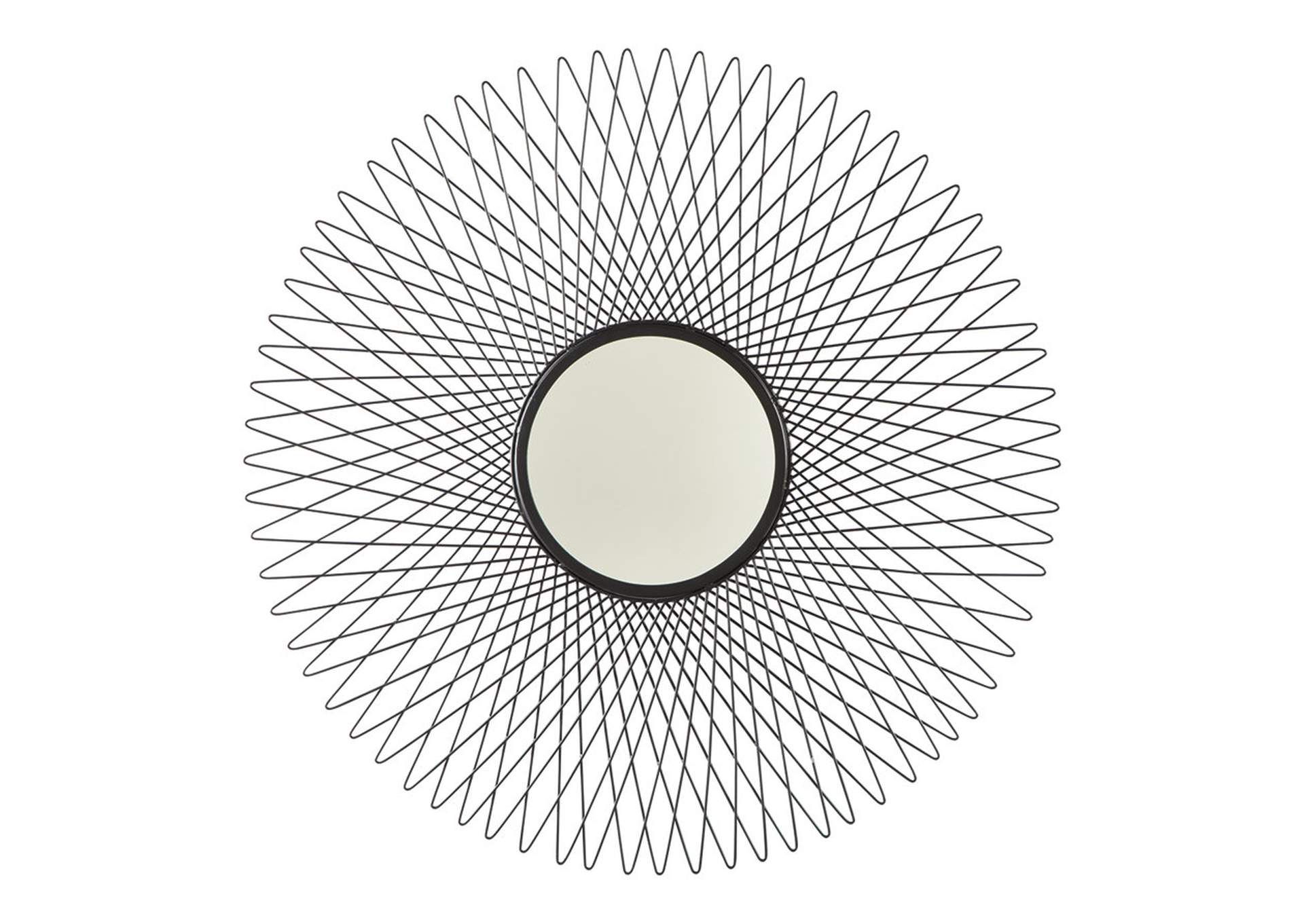 Dooley Black Accent Mirror,Signature Design By Ashley