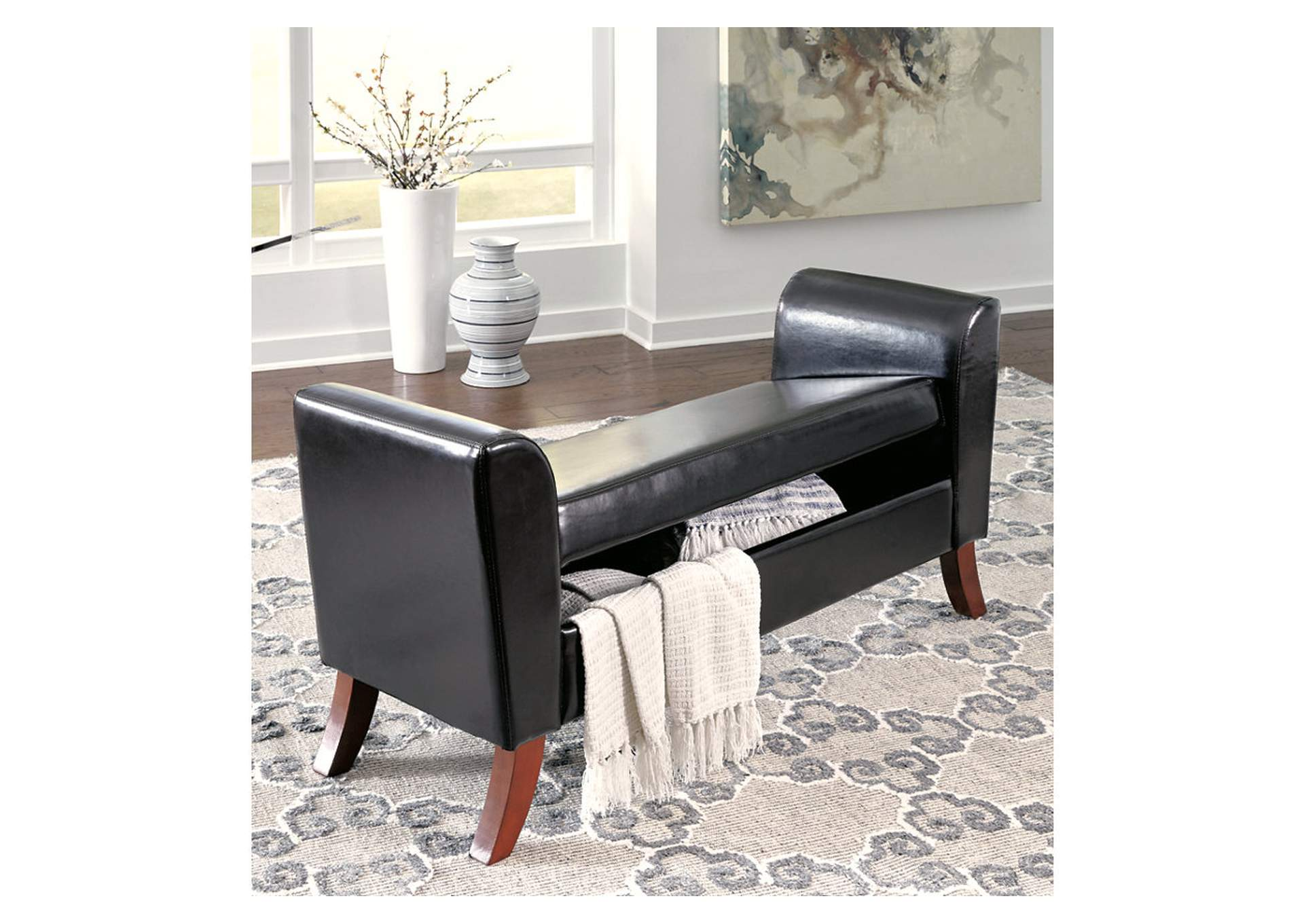 Benches Multi Upholstered Storage Bench,Signature Design By Ashley