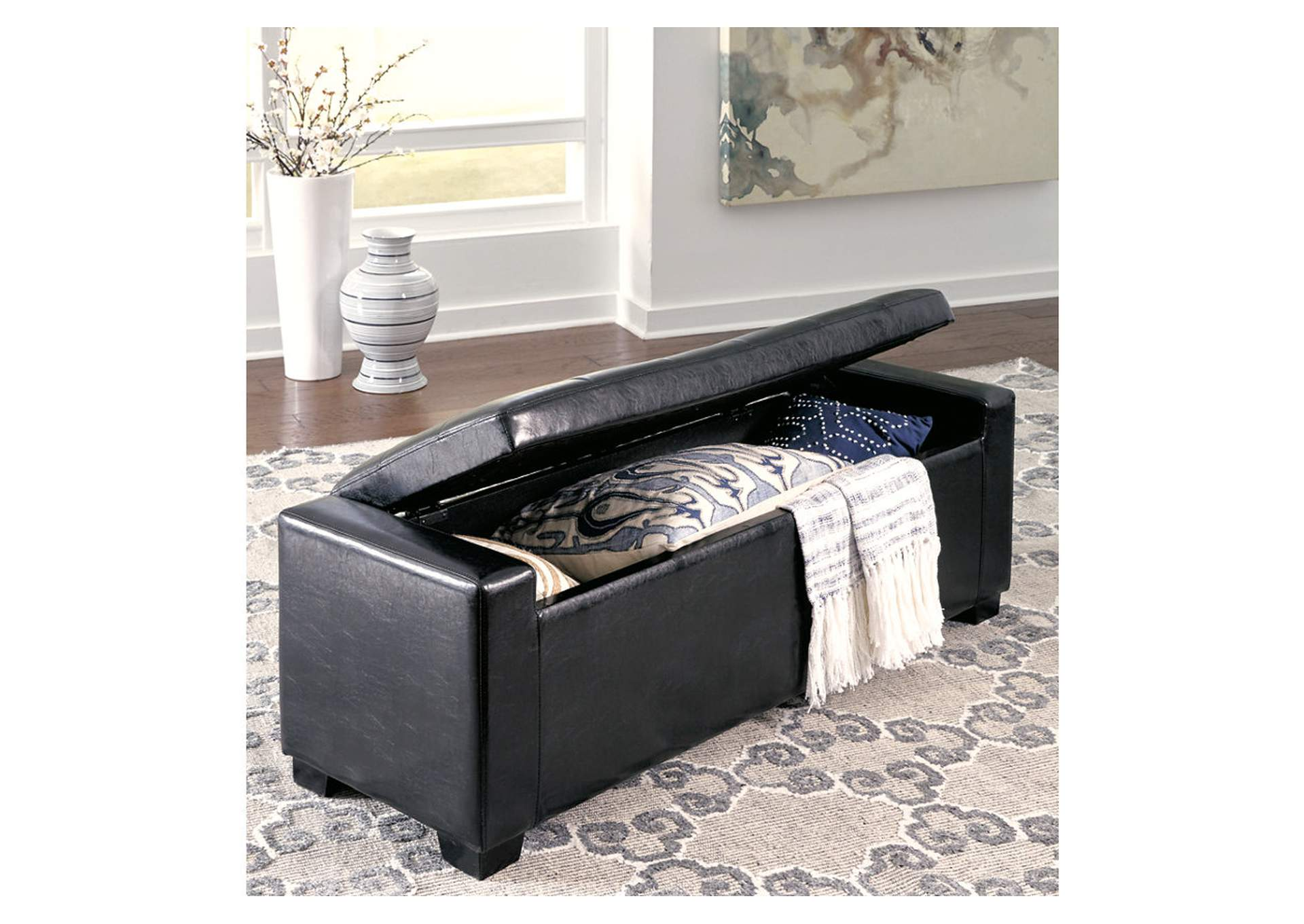 Benches Black Storage Bench,Signature Design By Ashley