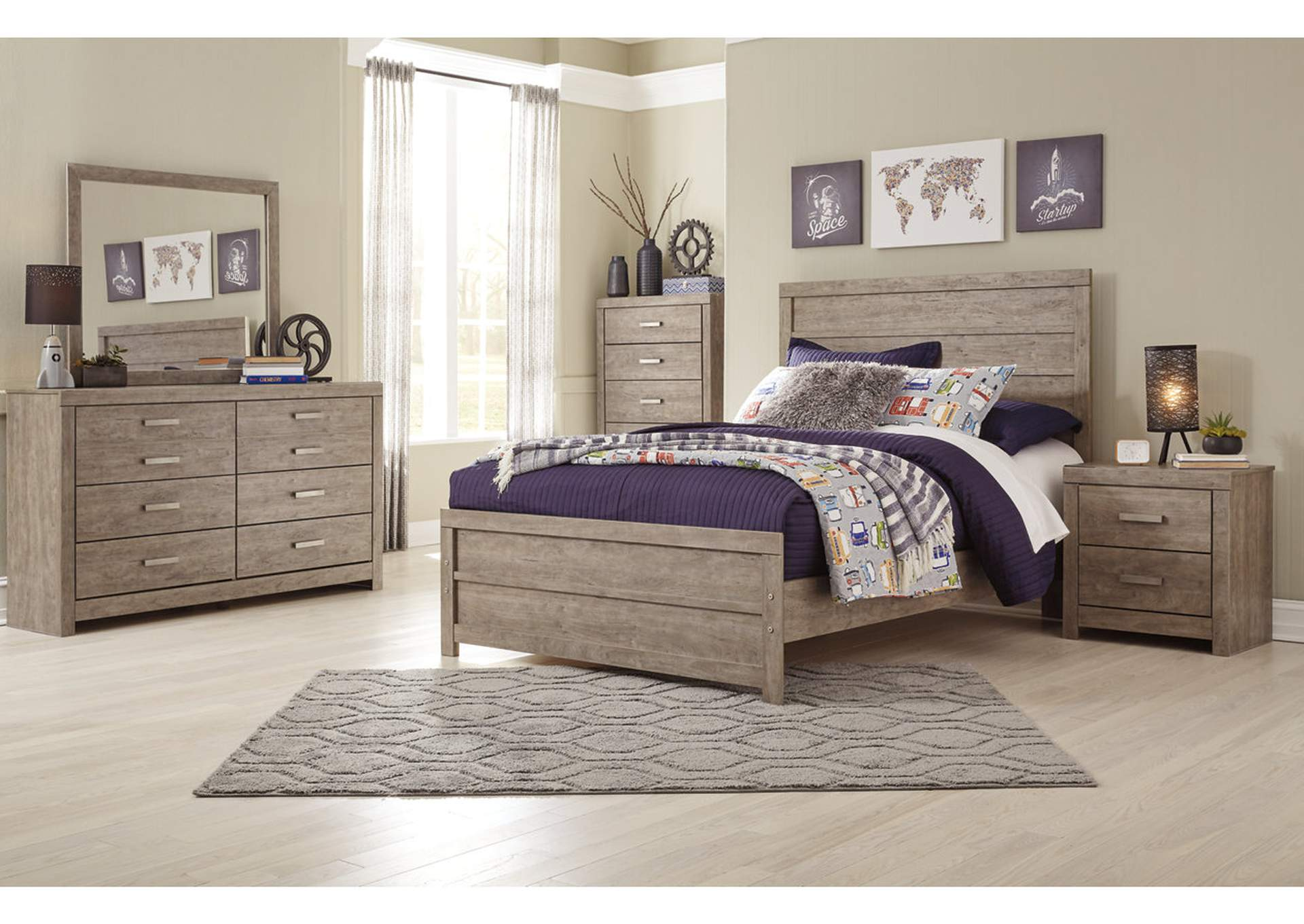 Culverbach Gray Full Panel Bed,Direct To Consumer Express
