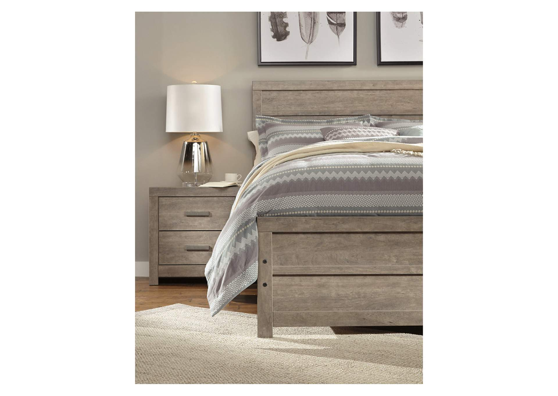 Culverbach Gray Queen/Full Panel Bed,Signature Design By Ashley