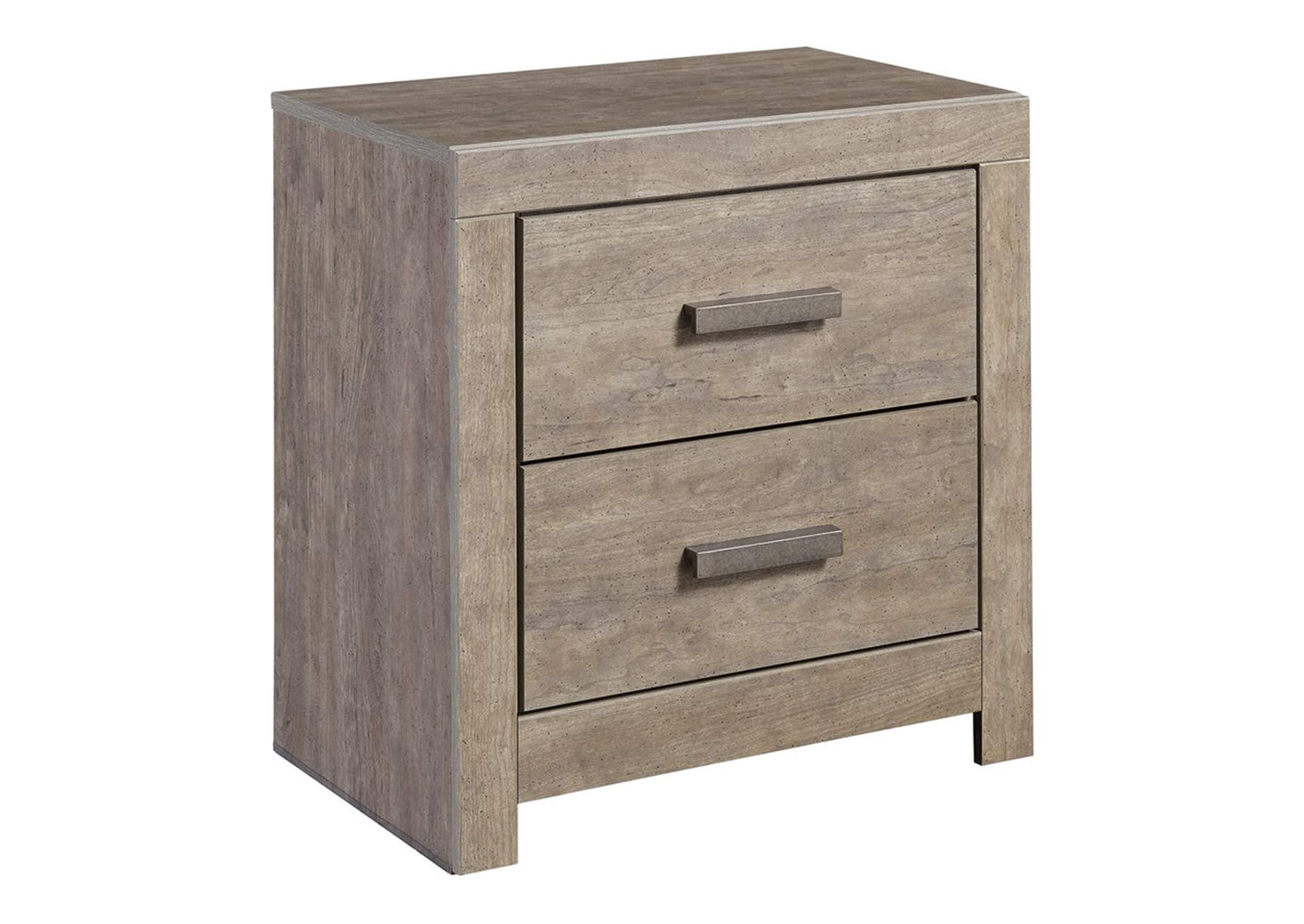 Culverbach Gray Two Drawer Night Stand,Signature Design By Ashley
