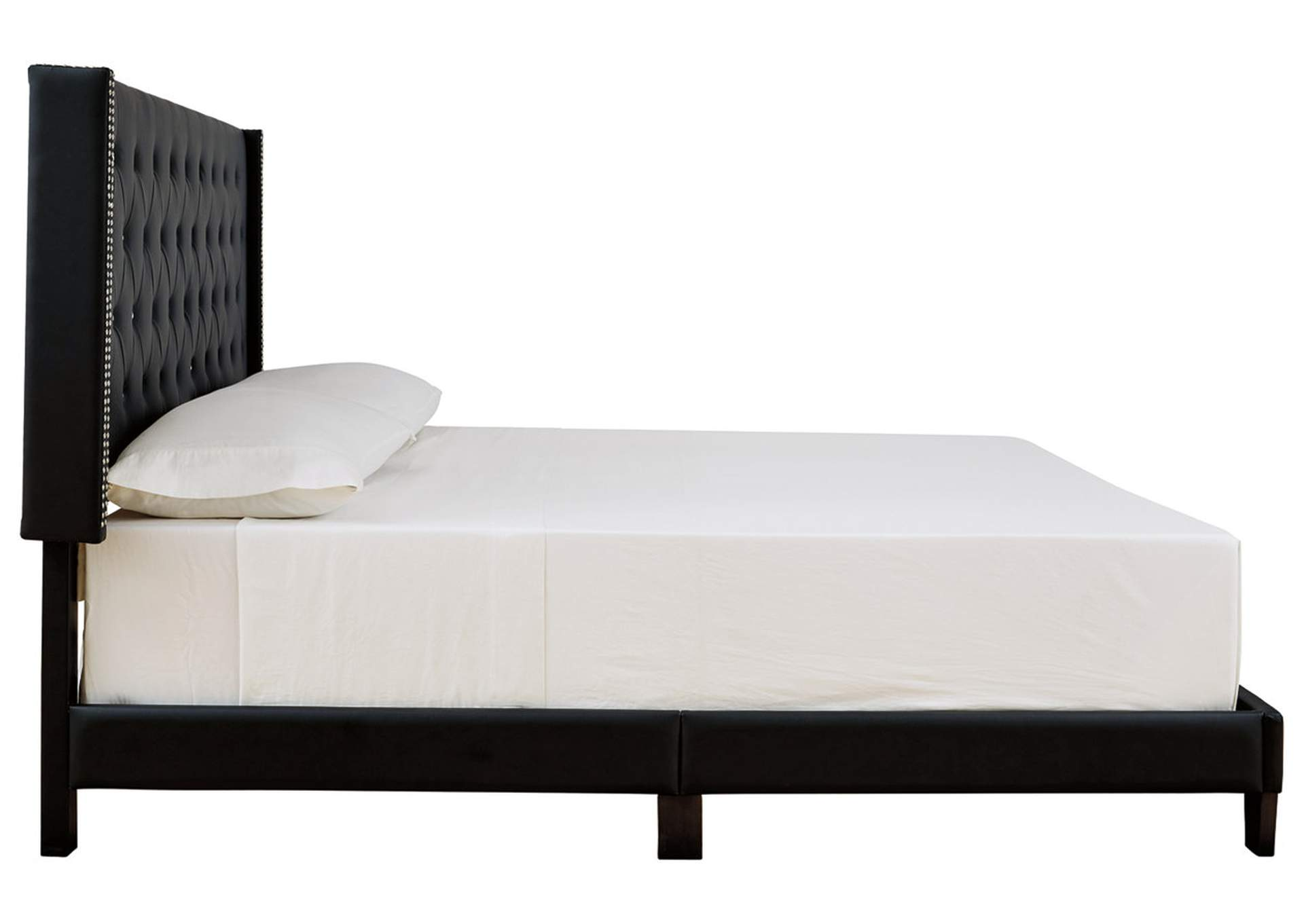 Vintasso Black King Upholstered Bed,Signature Design By Ashley