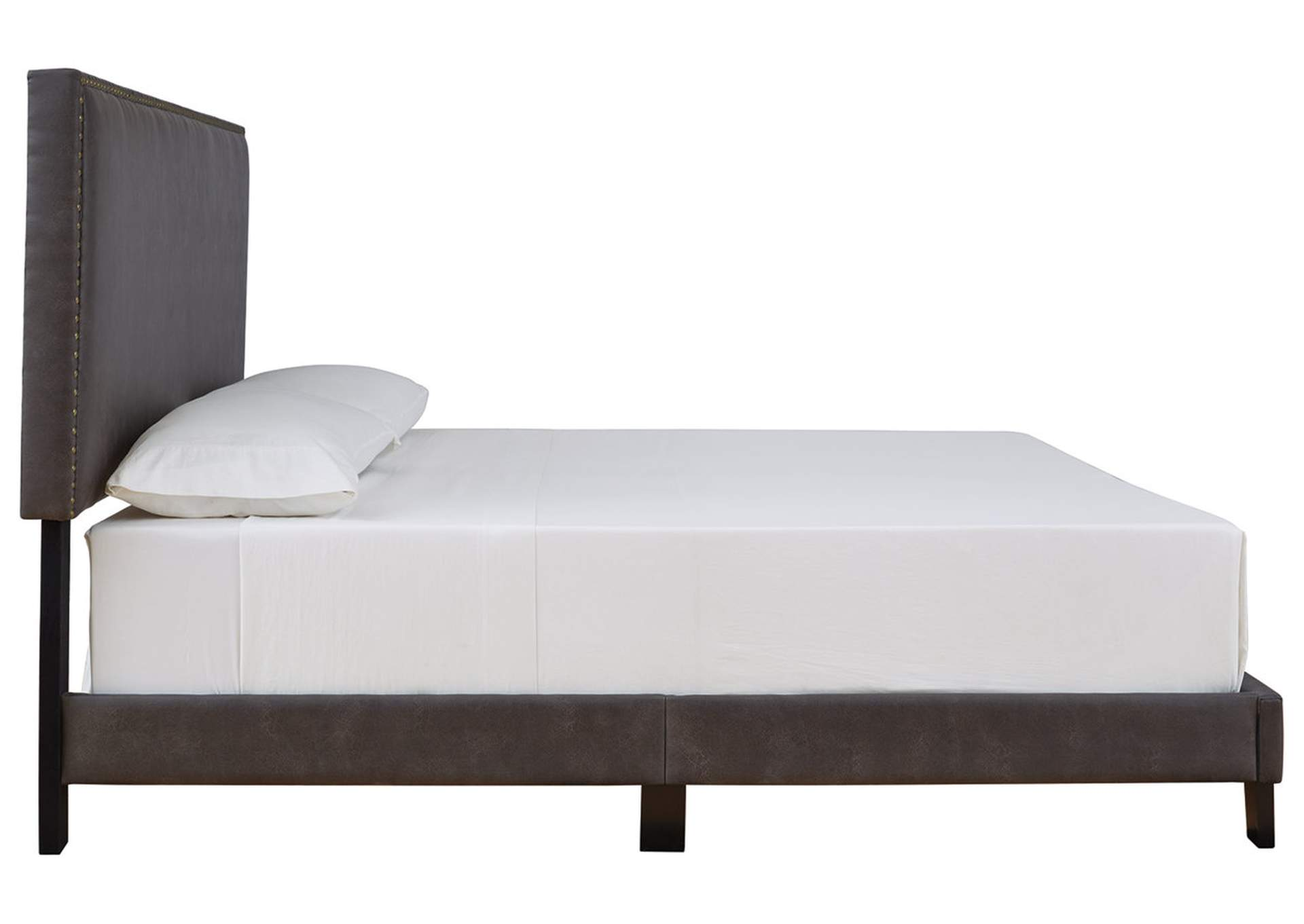 Vintasso Grayish Brown Queen Upholstered Bed,Signature Design By Ashley