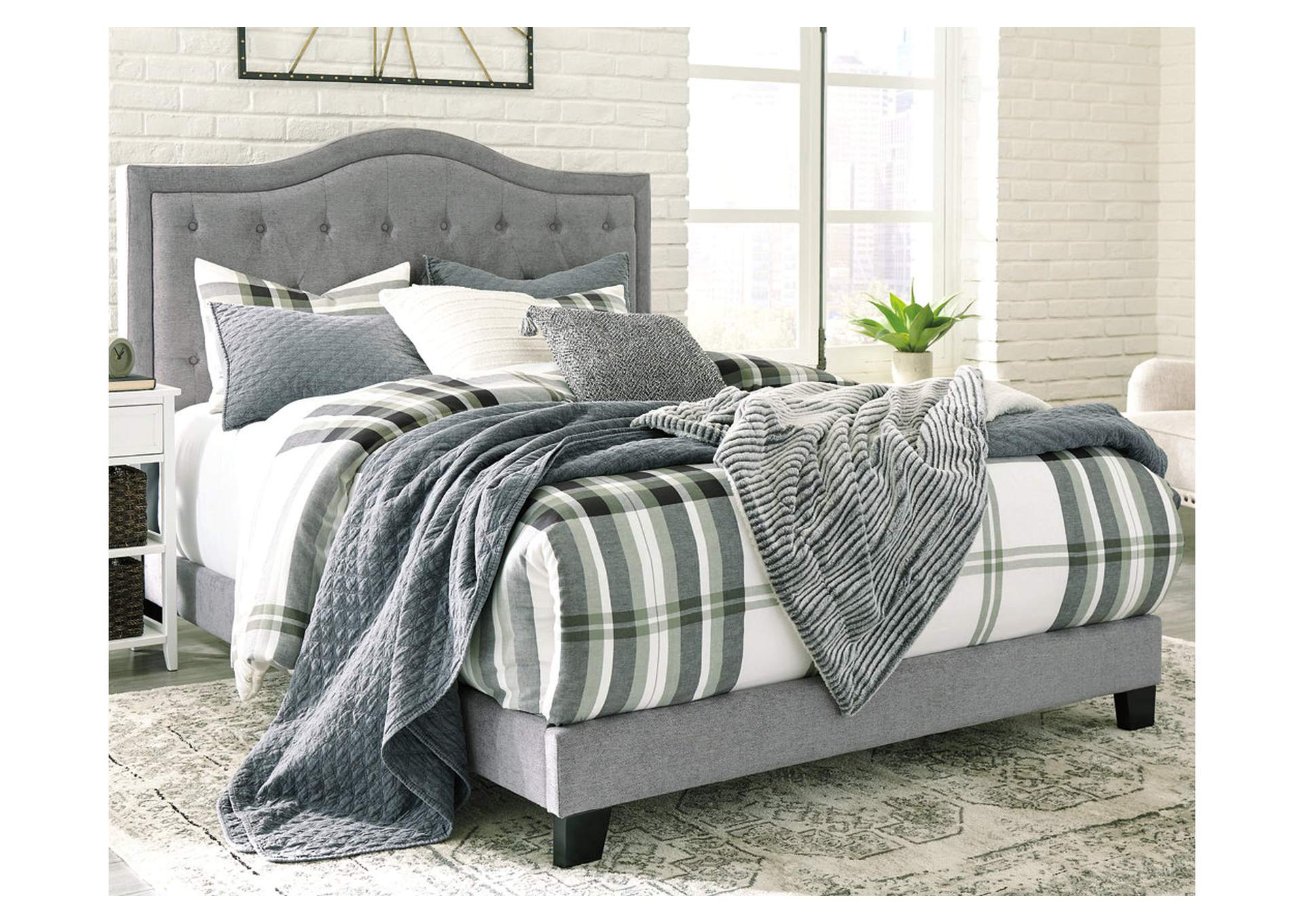 Jerary Gray Queen Upholstered Bed,Signature Design By Ashley