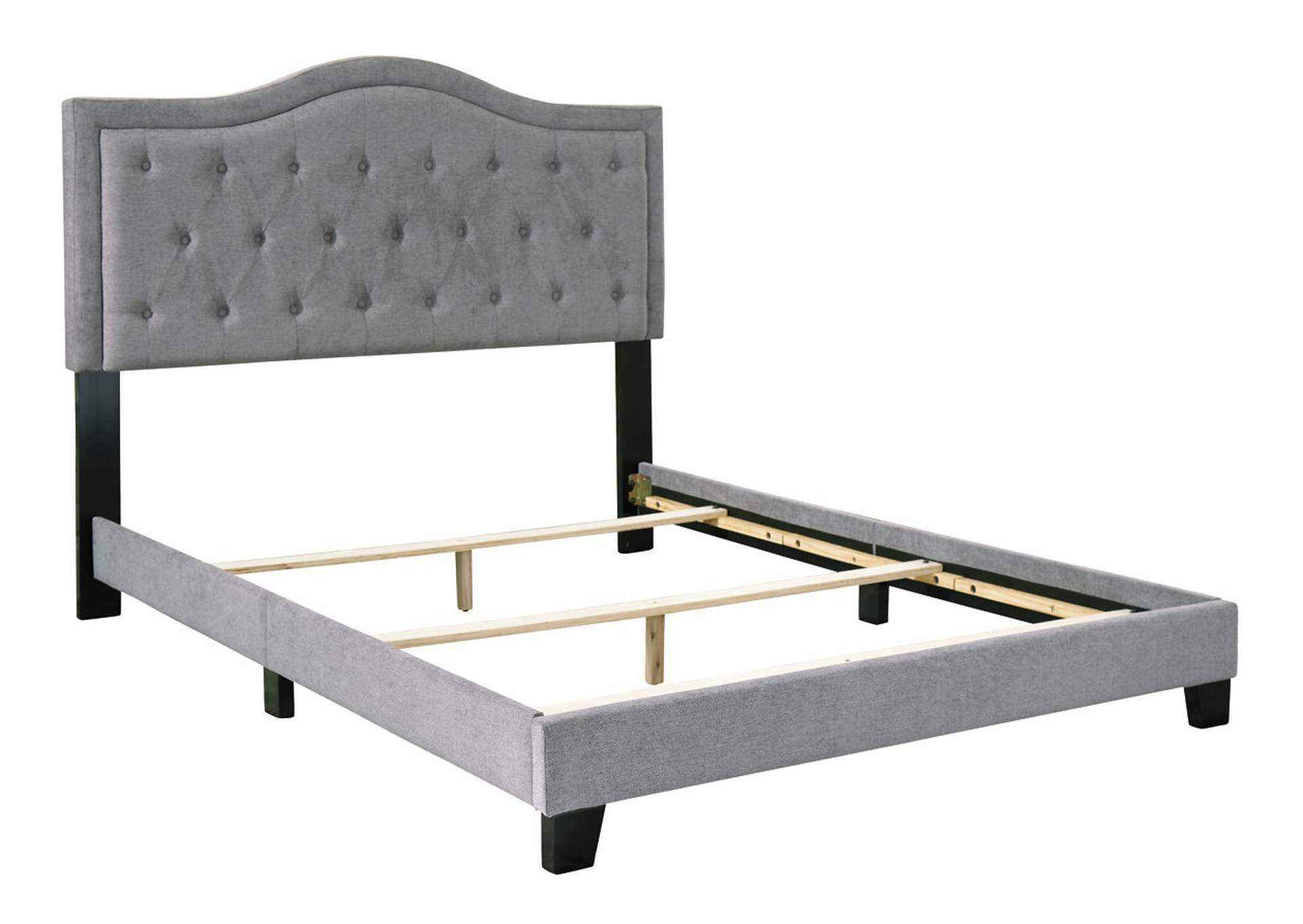 Jerary Gray King Upholstered Bed Majek Furniture