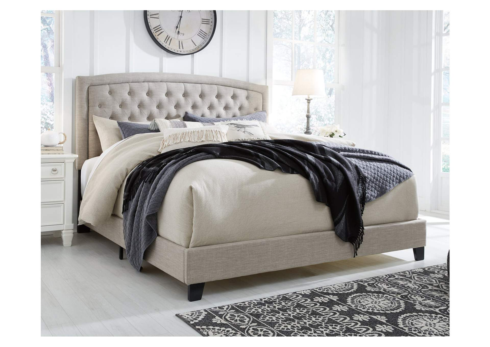 Jerary Gray King Upholstered Bed,Signature Design By Ashley