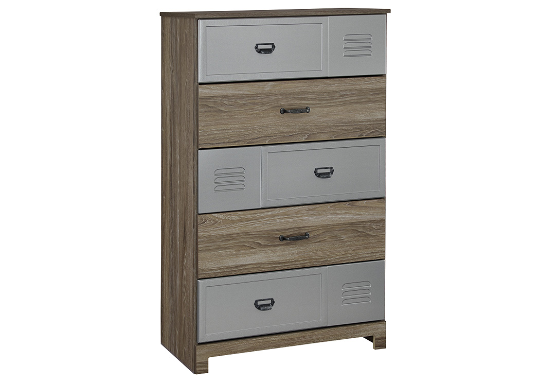McKeeth Gray 5 Drawer Chest,Signature Design By Ashley