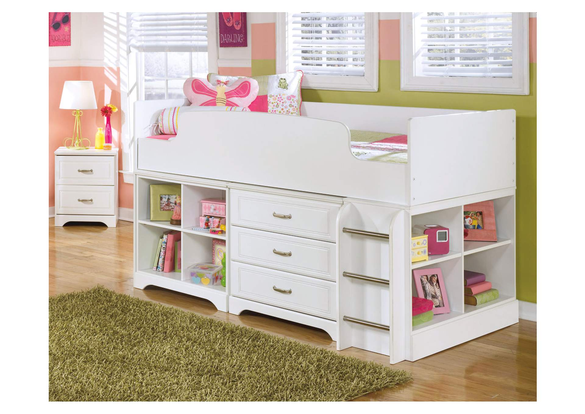 Lulu Twin Loft Storage Bed,Signature Design By Ashley