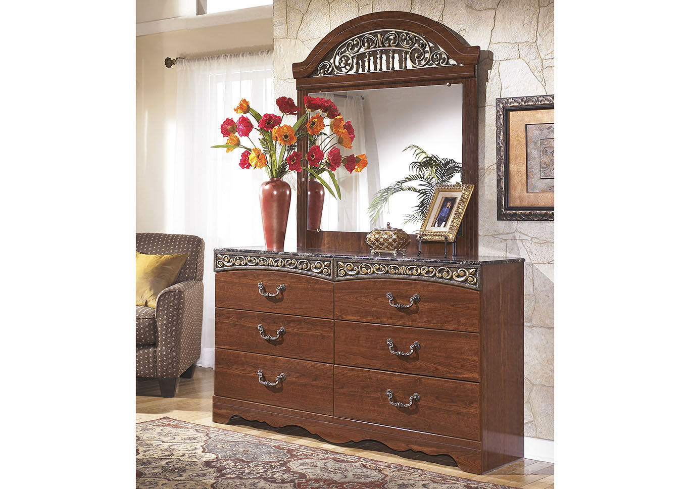 Fairbrooks Estate Dresser & Mirror,Signature Design By Ashley