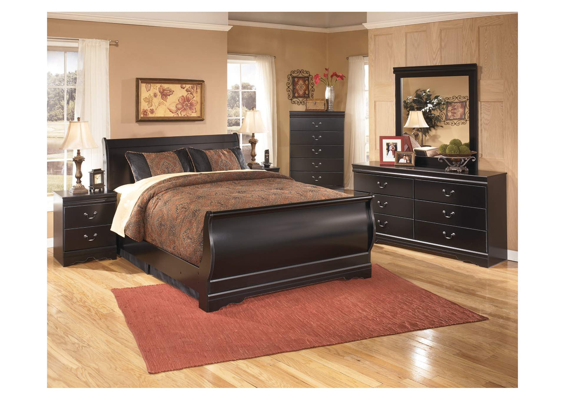 Huey Vineyard Queen Sleigh Bed,48 Hour Quick Ship