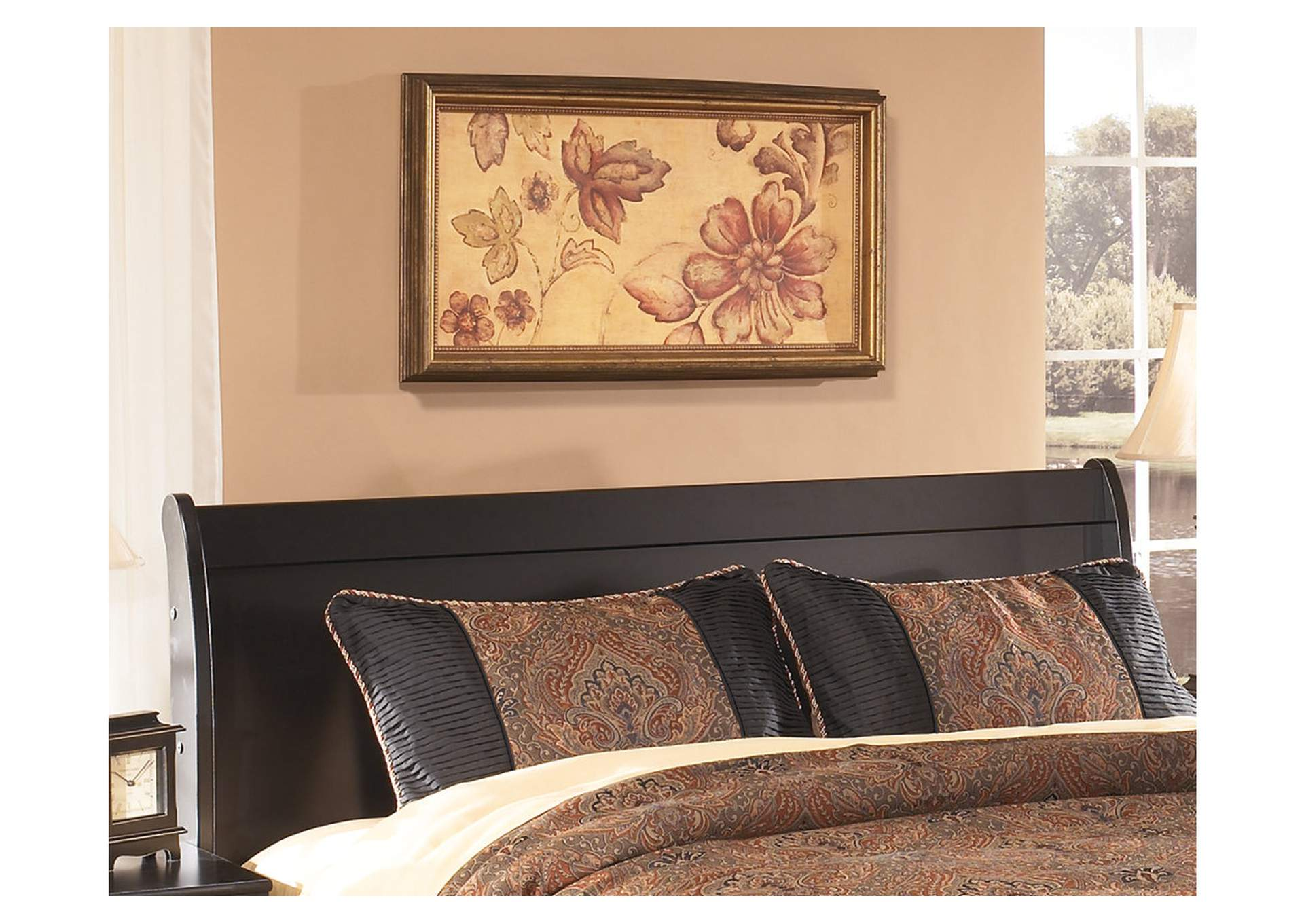 Huey Vineyard Queen Sleigh Headboard,48 Hour Quick Ship