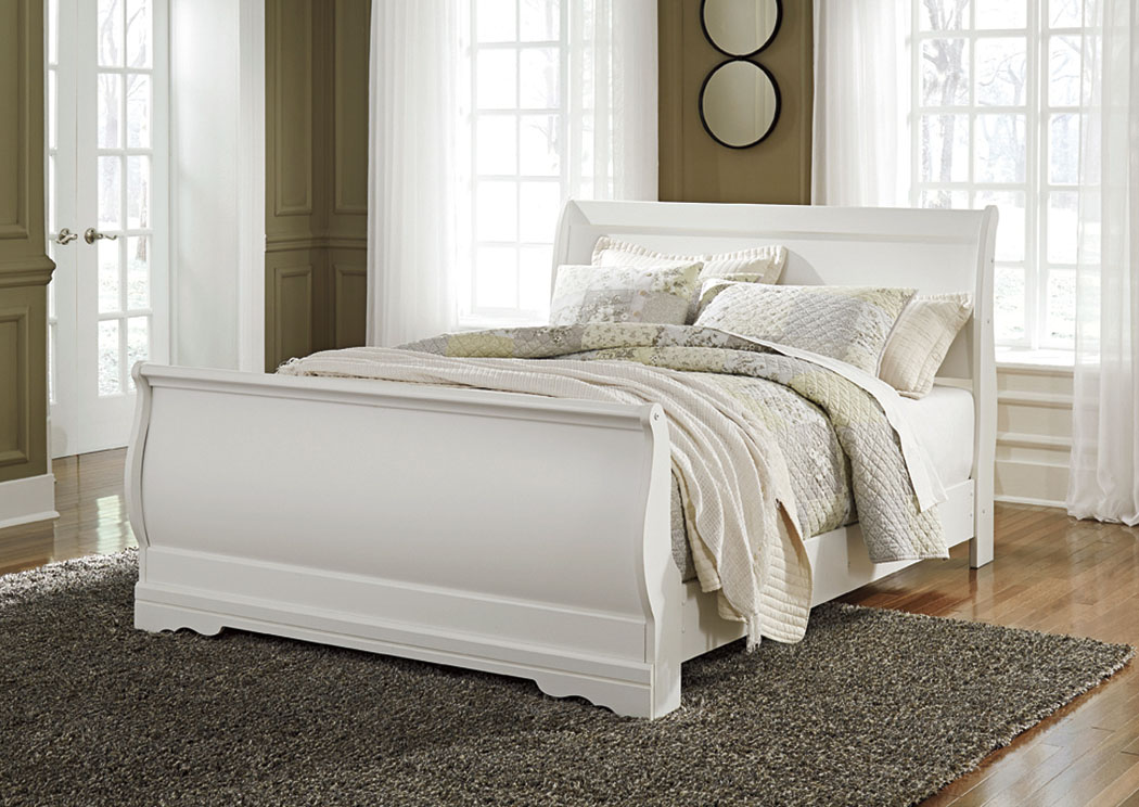 sleigh bedroom set furniture now anarasia white sleigh bed 13170