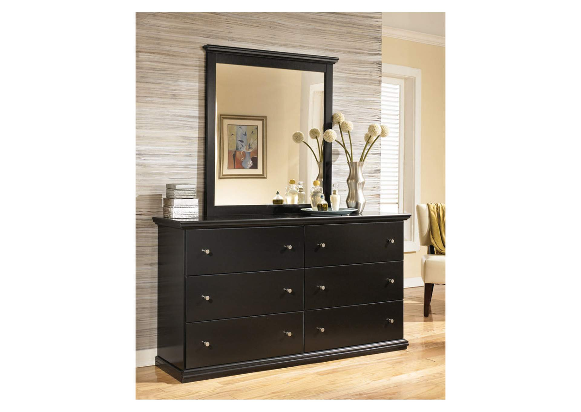 Maribel Black Bedroom Mirror,Signature Design By Ashley