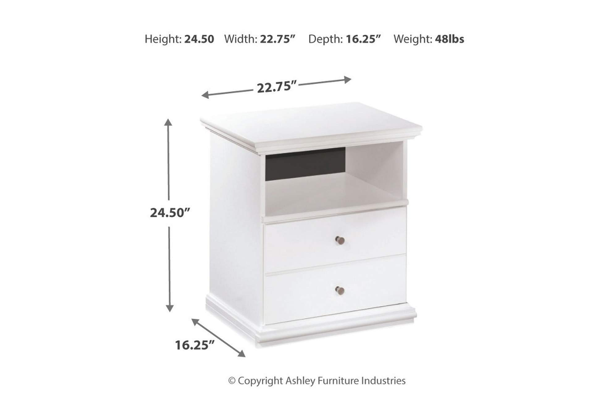 Bostwick Shoals One Drawer Nightstand,Direct To Consumer Express