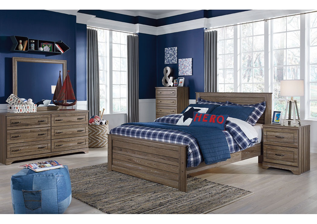Beau Javarin Grayish Brown Full Panel Bed,Signature Design By Ashley