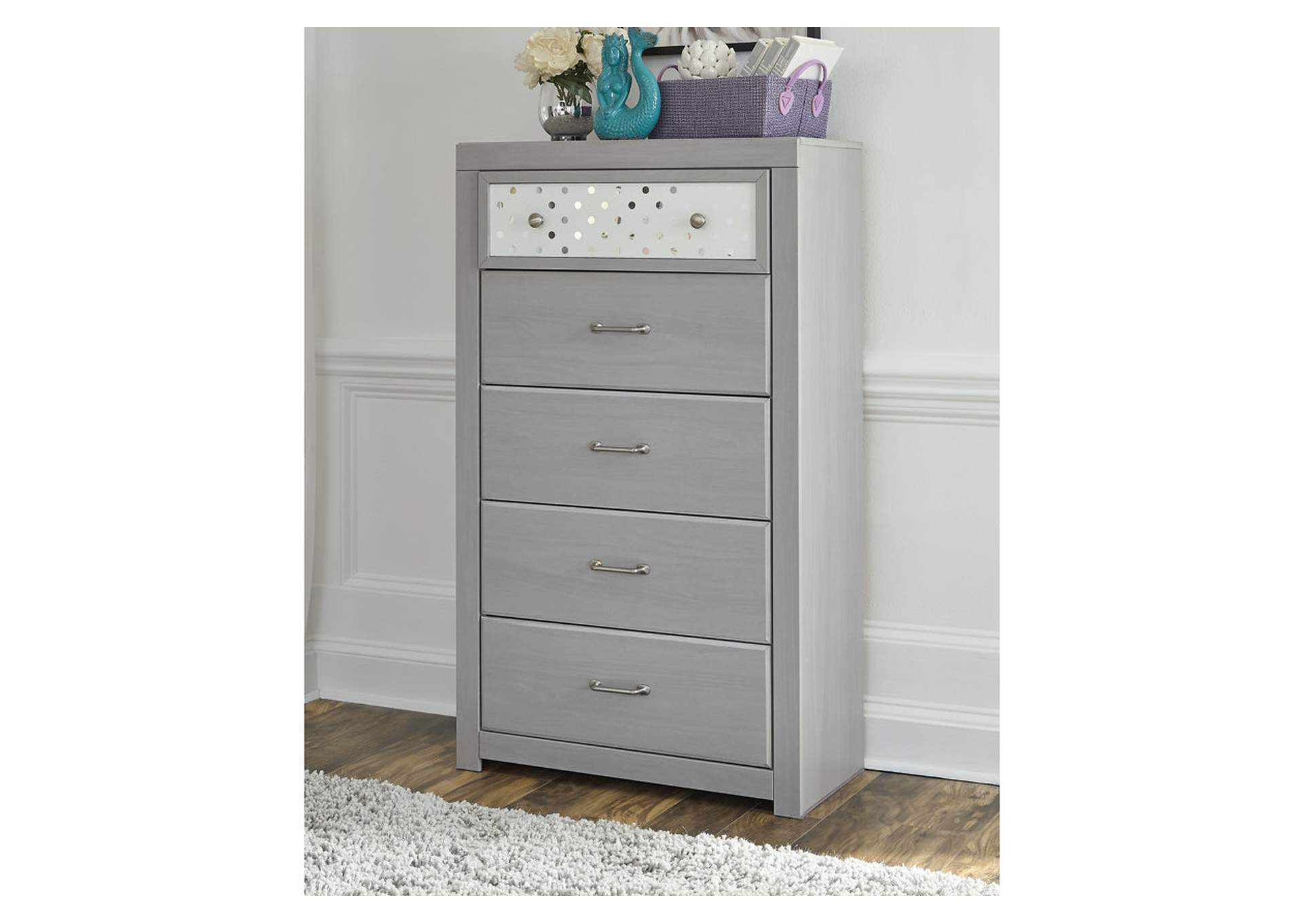Arcella Gray Chest of Drawers,Signature Design By Ashley