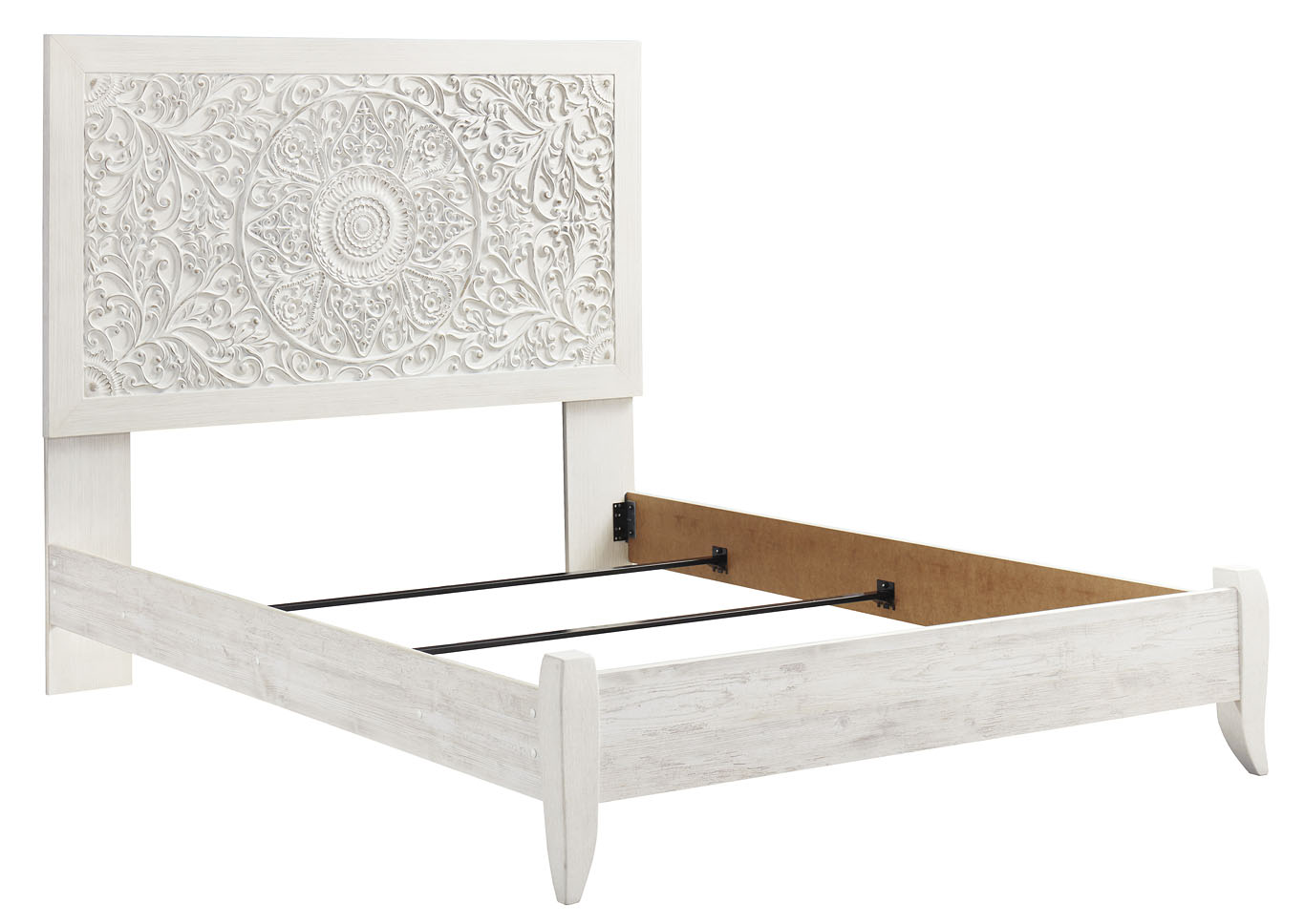 Paxberry Whitewash Queen Panel Bed,Signature Design By Ashley