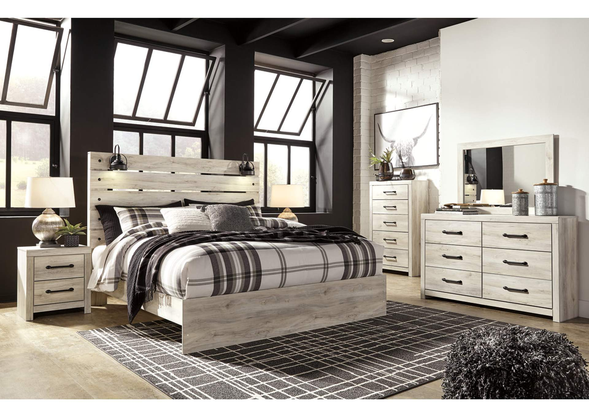 Cambeck King Panel Bed w/Dresser and Mirror,Signature Design By Ashley